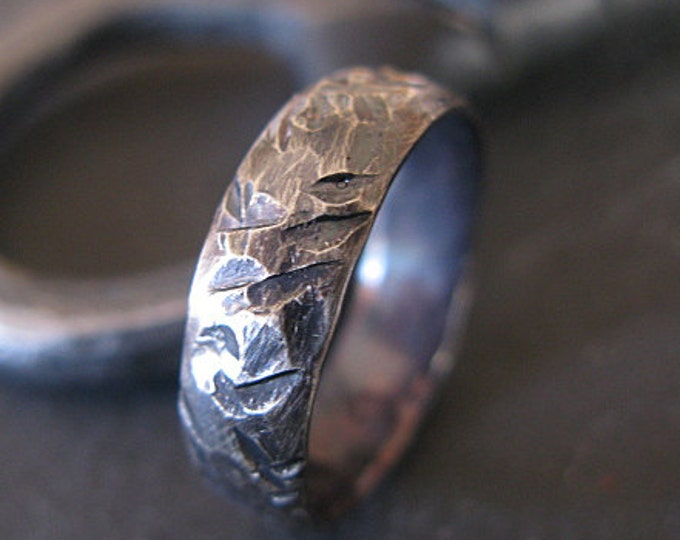 Size 11-1/2 Viking Ring 5mm Sterling Silver Mens Wedding Band