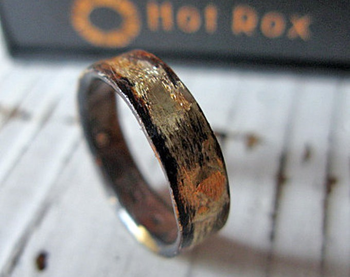 Rustic Man Wedding Band Viking Wedding Band Unique Man Wedding Band Man Wedding Ring Size 7 3/4 Unique Wedding Band Rustic Wedding Band