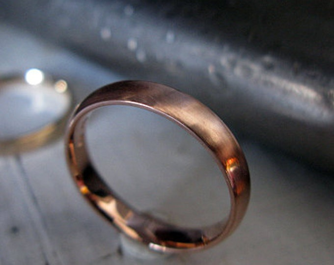 Classic Domed Band 4mm 14K Rose Gold