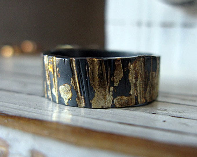 Black Bark Ring 8mm