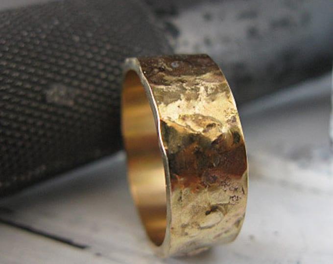 Gold Mens Wedding Band 8mm 14K Yellow Gold