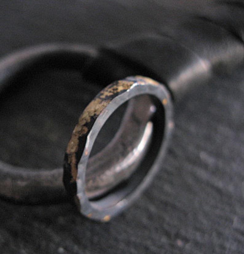18K Yellow Gold Sterling Silver Mixed Metal Custom Wedding image 0