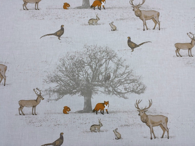 Fryetts Tatton Autumn Foxes Curtain Upholstery Craft Designer Cotton Fabric