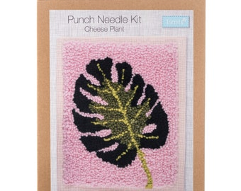 """GCK090 - Cheese Plant - Trimits Beginners Punch Needle Kit Craft Project - Finished Size 8"""" x 10"""""""