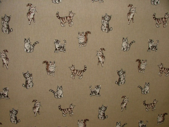 Mini Prints Animals Leaf Linen Look Cotton Fabric Curtain Upholstery Quilting