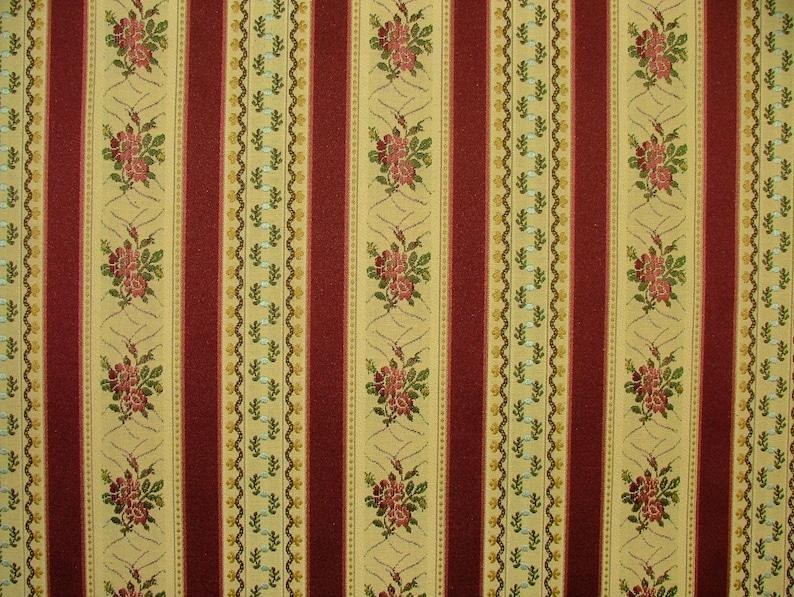 Tapicería de tela, Ideal para sillas de comedor - regencia raya vino  cortinas cojines no ignífugos