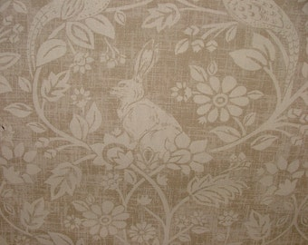 Heathland Hares And Game Birds Linen Cotton Designer Curtain Blinds Upholstery Fabric