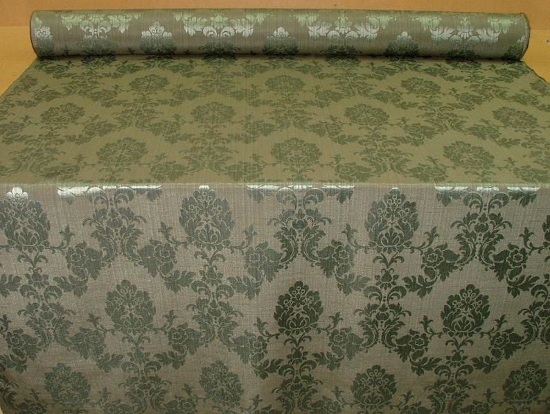 Forest Madagascar Designer Curtain Brocade Damask Upholstery Cotton Fabric