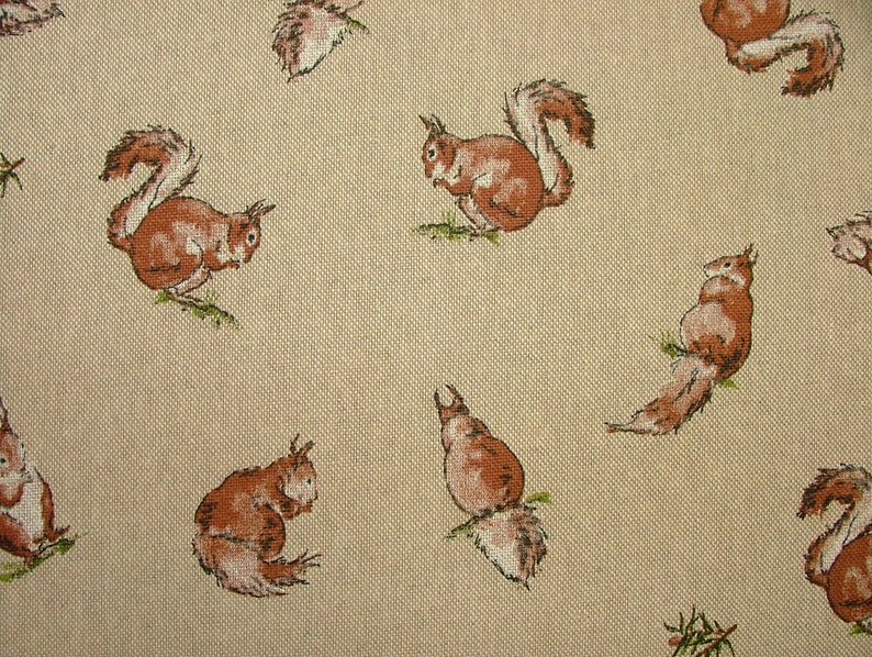 Duck Mini Prints Country Linen Look Fabric Curtain Upholstery Quilting