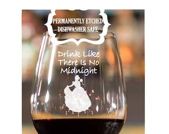Disney Princess Wine Glasses Engraved 21st Birthday Gift Best Friend Christmas Glass For Sister
