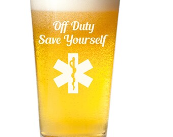 EMS Gift~ EMT~  Paramedic Gift~ Ambulance Driver~ Etched Glasses~ Engraved Glasses~ Beer Mug~ First Responders Gift