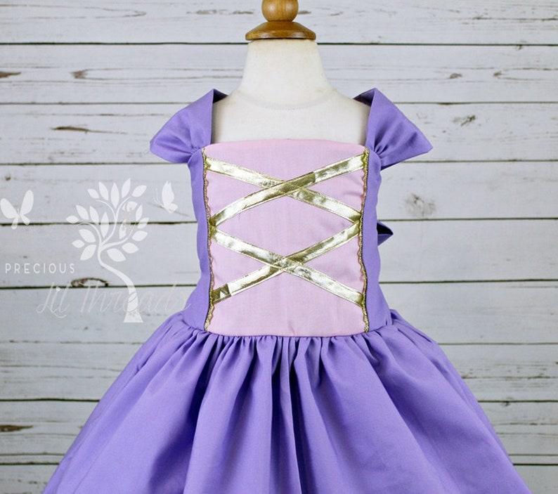12-18m 5 4t 8 3t 2t 6 7 Girls Rapunzel Inspired Dress- Toddler Girls- Princess Rapunzel Dress- Baby Girls- Tangled Dress- 3-6m,6-12m