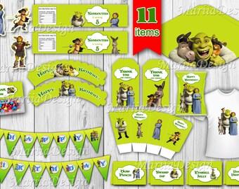 Shrek Party Package Printable Kit Supplies Decoration Birthday