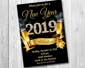 new years invitation new years party invitation new years eve party invitation new years eve invitation 2019 new year invite only file