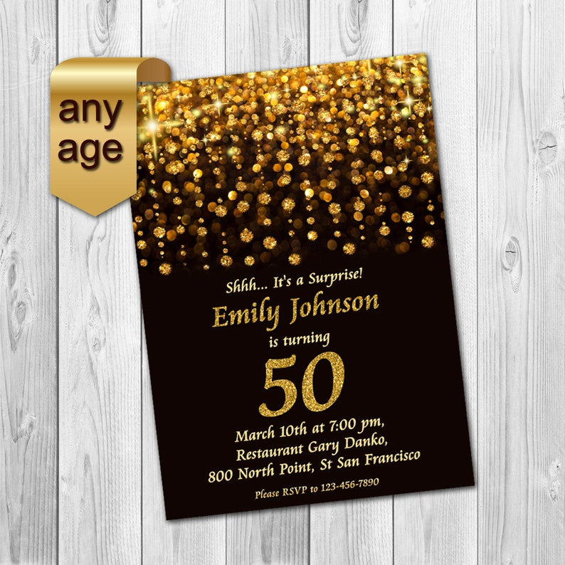 50th Birthday Invitation 60th Invitations