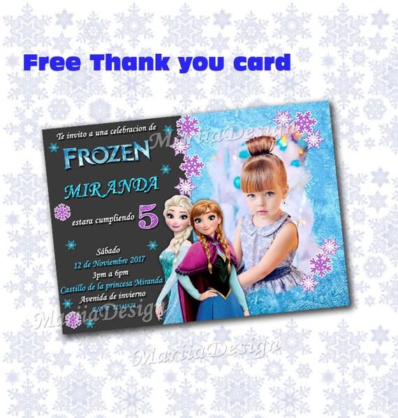 Frozen Invitation Frozen Party Invites Frozen Birthday Etsy