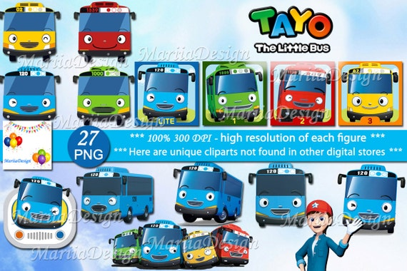 tayo the little bus 27 png 300 dpi tayo the little bus etsy