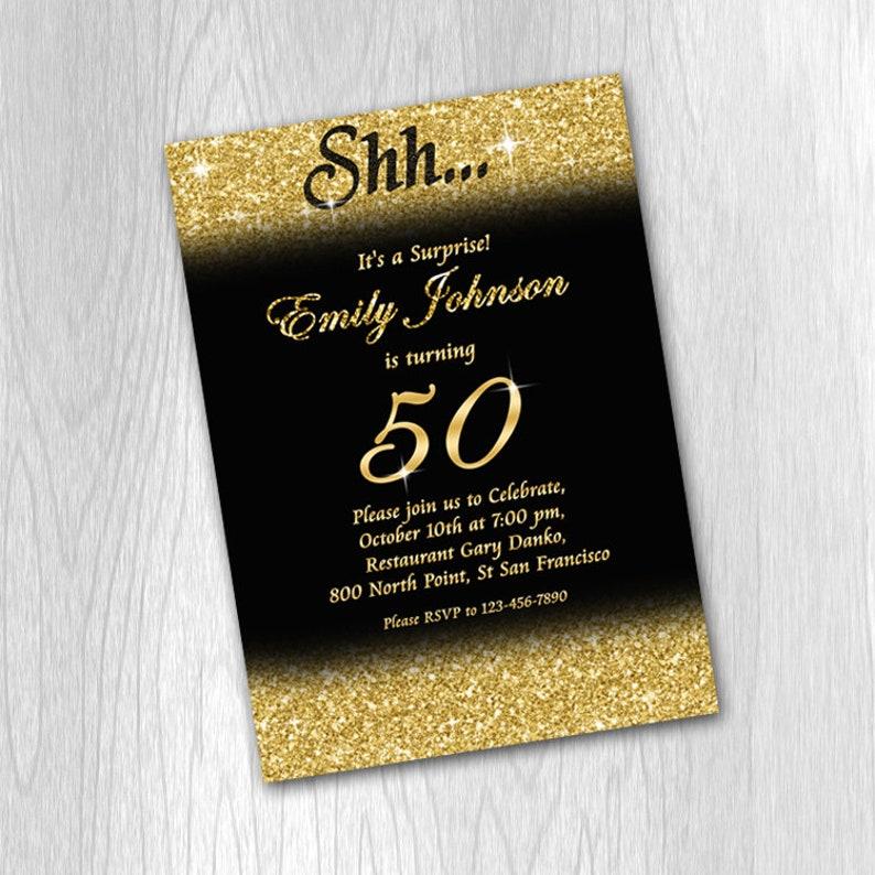 50th Birthday Invitation 50th Birthday Invitation For Men Etsy