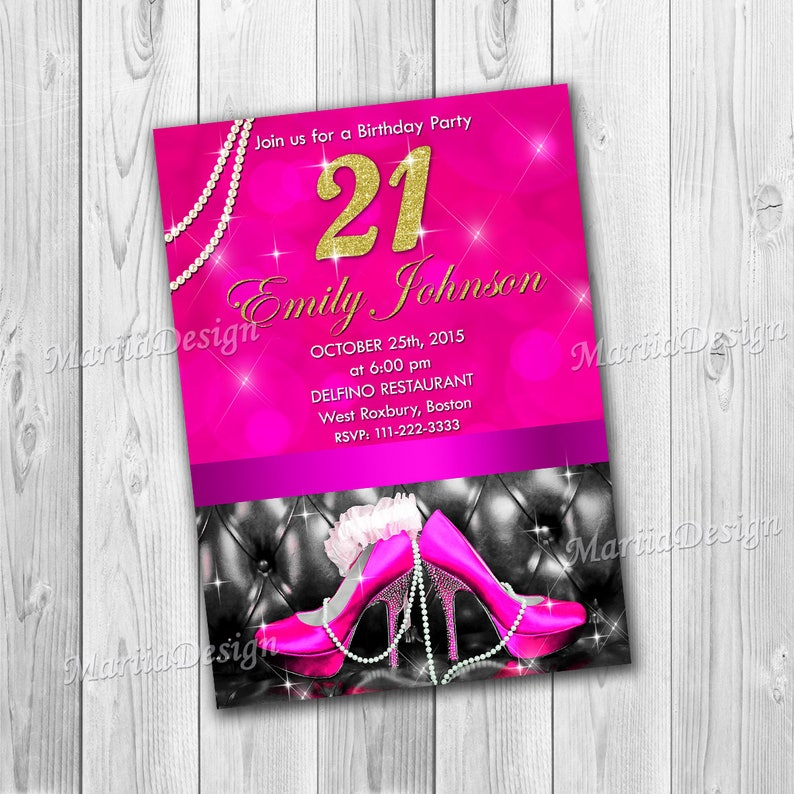 21st Birthday Invitations For Women