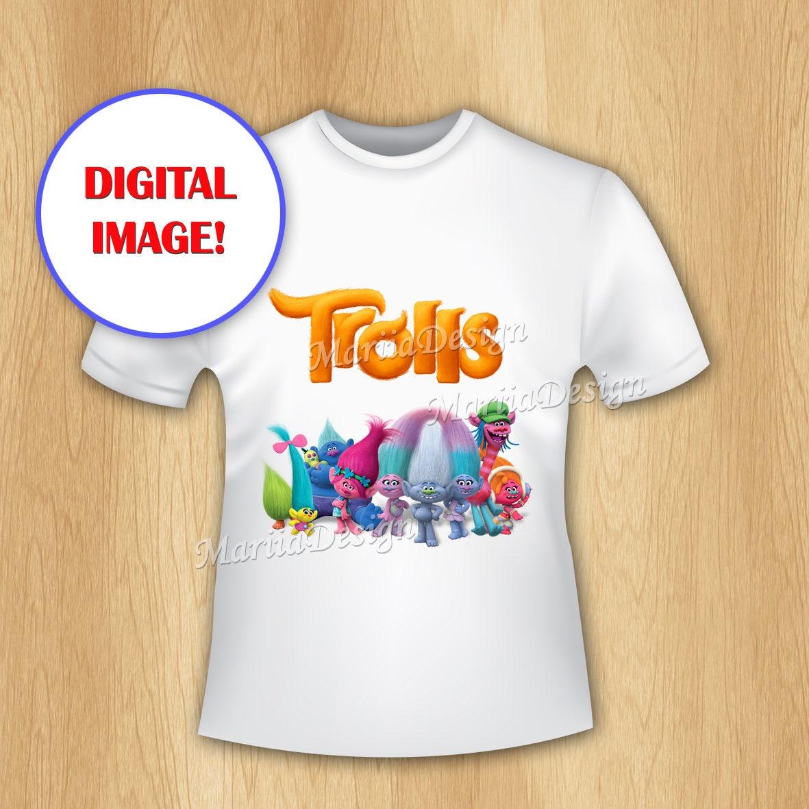 Trolls Iron On Transfer Trolls T-shirt Transfer Trolls   Etsy