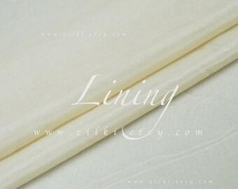 Romige witte bekleding stof Silk katoenweefsel door de werf