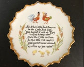 Little Red Hen Decorative Wall Plate Free Shipping Vintage Country Kitchen Deco Chicken Themed