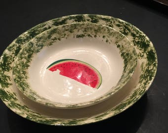 Watermelon Serving Bowls (Set of two)