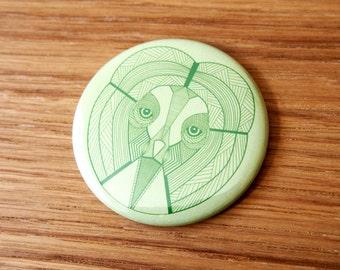 Owl of Wisdom Pocket Mirror | Owl Mirror | Gift Idea Party Favour | Party Bag Filler | Hand Mirror