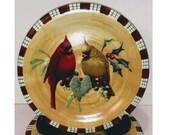 Lenox WINTER GREETINGS EVERYDAY quot Cardinal quot Salad Dessert Plate