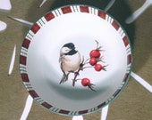 Lenox WINTER GREETINGS EVERYDAY quot Chickadee quot Soup Small Serving Bowl