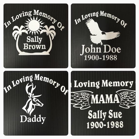 In Loving Memory Vinyl Decal Sticker Personalized Custom Car Window Eagle Dad