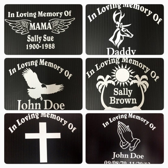 In memory of decals car stickers window decal cross praying