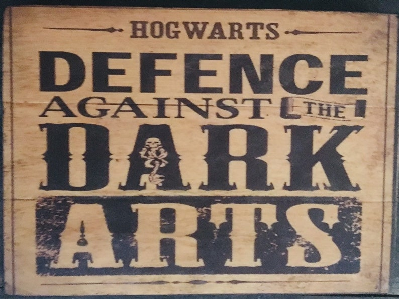 Defense Against The Dark Arts Rustic Distressed Sign Etsy