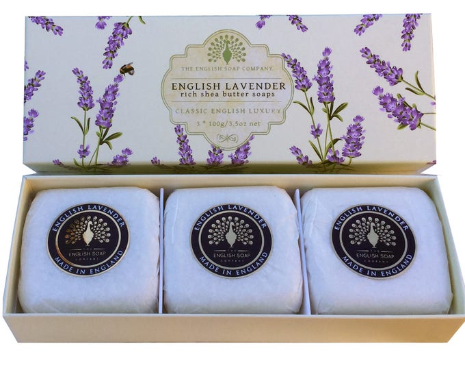 English Lavender 3x 100g Gift Boxed Hand Soaps