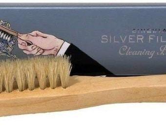 Singular Silver Filigree Cleaning Brush- perfect for dislodging dirt - Town Talk