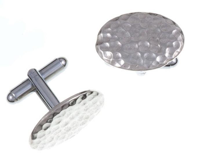 Oval Cornish Tin cufflinks- Hand Made and Design in UK