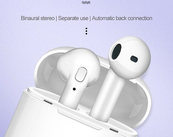 Wireless Earbud Airpod Bluetooth Headset 5.0 Copper Ring Speaker Double Ear True Stereo Touch