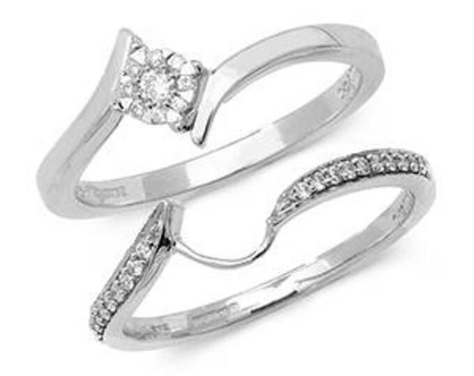 Crossover Brillant Diamond Ring Set Diamond Wedding