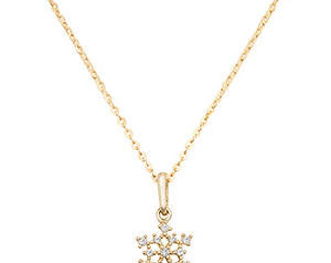 Gold Necklace Choker Pendant 9ct GOLD Necklace Cubic Zirconia CZ with inches Chain
