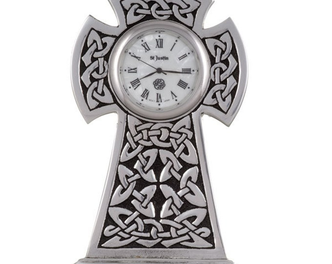 Celtic Knox cross clock- Hand Made and Design in UK