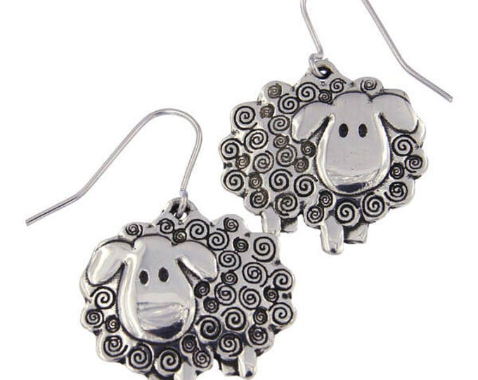 Swirly Sheep Drop Earrings- Ideal Gift For Her & Mom- Christmas-Birthday- Animal Lover