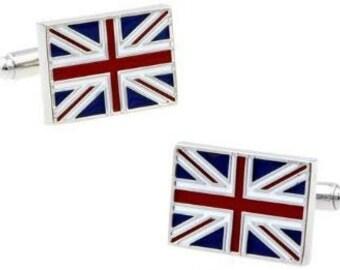 Cufflink British  Union Jack United Kingdom Flag Great Britain UK  for Shirt Unisex Men Women