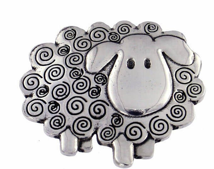 Swirly Sheep Brooch  -Ideal Gift For Her Mom- Hand Made and Design in UK- Ideal Gift