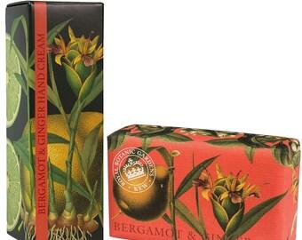 English Luxury Royal Botanical Bergamot  Ginger Kew Gardens Gift Set -Soap & Hand Cream-Gift For Him or Her