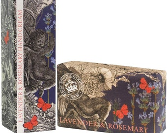 English Lavender and Rosemary Luxury Royal Botanical  Kew Gardens Set -Soap & Hand Cream-Gift For Him or Her