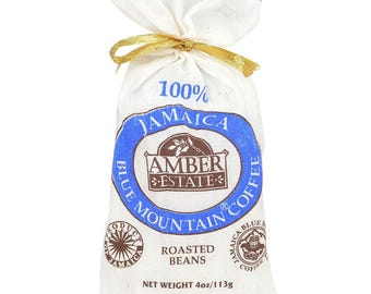 SALE 100%  BEAN Coffee Jamaica Blue Mountain World Best - 4 oz (113 g) Amber Estate STARBUCKS Premium Coffee S-Limited