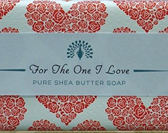 Valentine Gift For The One I Love You Shea Butter Pure Indulgence Soaps Bath Soap-200g- Ideal Gift For  him or her
