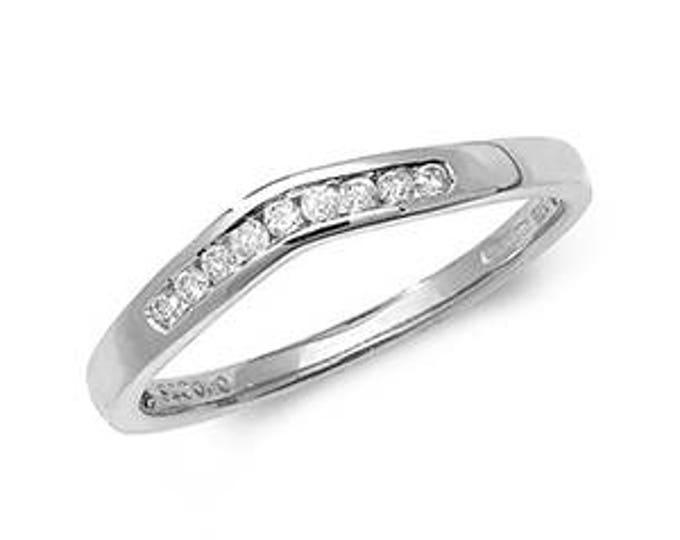 Diamond Wishbone White Gold Ring