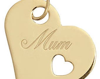 9CT Yellow Gold Ladies MUM Pendant- Ideal For Mum Her