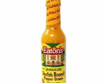Jamaica Eaton's Crushed Scotch Bonnet Pepper-Chilli Sauce- Made in Jamaica